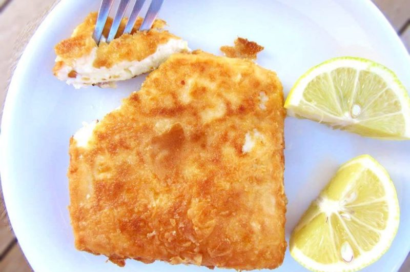 Saganaki Cheese the Olympian food