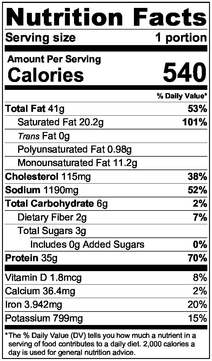keto stifado nutrition