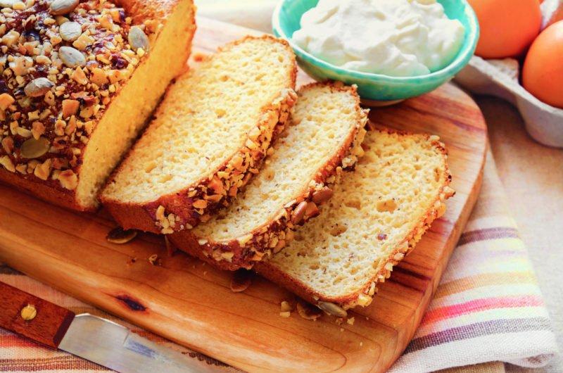 Keto bread with Greek yoghurt