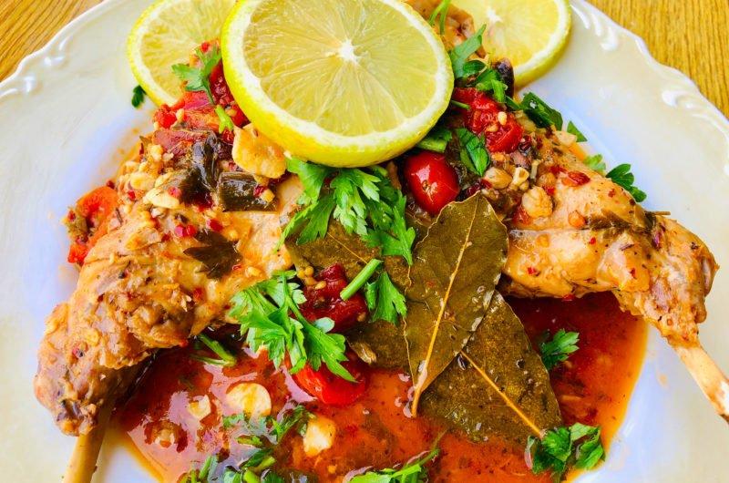 Keto Rabbit stew - A Greek Twist